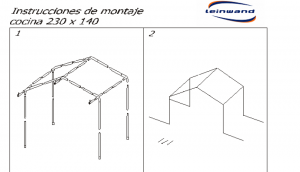 INSTRUCCIONES DE MONTAJE COCINA PANDORA 230x140
