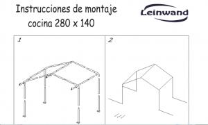 INSTRUCCIONES DE MONTAJE COCINA SPACE 280X140