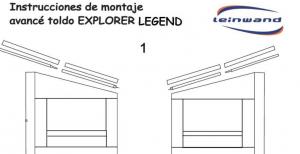 INSTRUCCIONES DE MONTAJE EXPLORER CS LEGEND