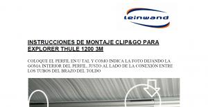 INSTRUCCIONES DE MONTAJE EXPLORER EASY THULE 1200 3M