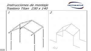 INSTRUCCIONES DE MONTAJE TRASTERO TITAN 230x140